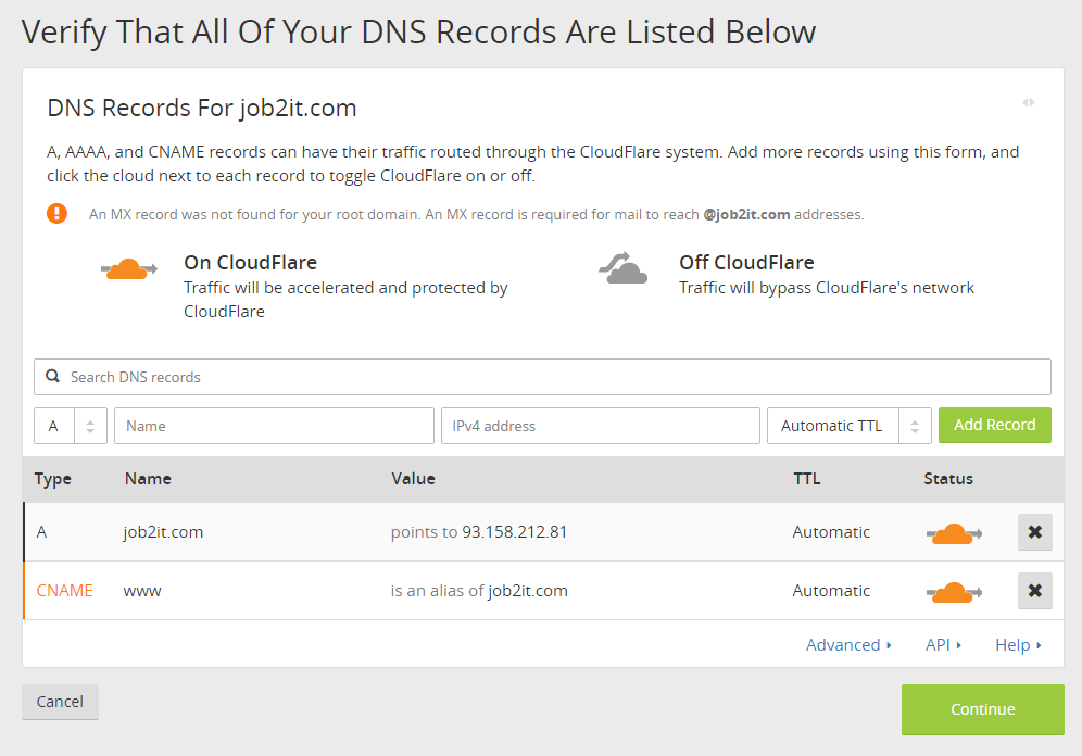 Set DNS Records