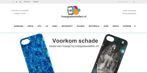 HoesjesBestetellen-hoomepage