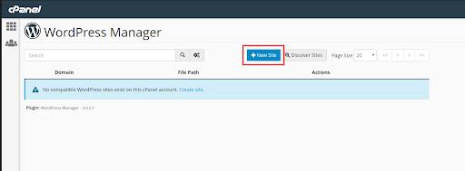 Install WordPress through WordPress Manager