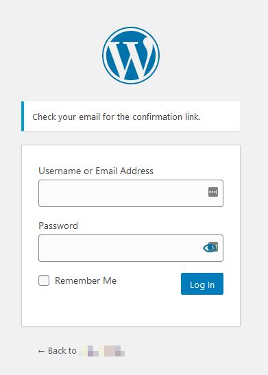 Password Reset Confirmation